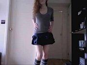 skinny brunette striptease