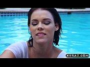 Huge boobs pornstar Peta Jensen hot poolside ha...