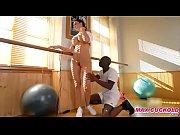 Gym instructor fucking bl...