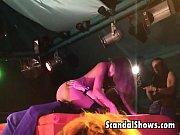 horny striper dildoing her snatch