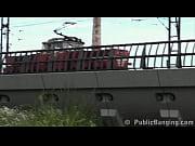 Young teen PUBLIC gangbang at a train station