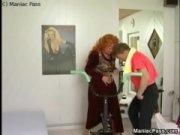 Русская госпожа и ее раб лизун