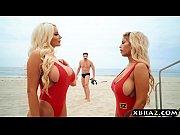 Hugwap.com Baywatch parody with huge tits blonde lifeguard...