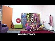 Oyeloca Latina teens Carolina and Lilly hot les...