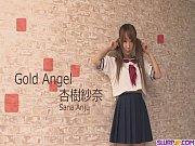 【無】杏樹紗奈 超可愛いセイフク美今時女子校生がディルドおなにーした後にフェラチオでざーめん口出しwww