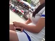 Девушки в колготках на улице видео