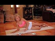 FantasyHD Hot teen's yoga poses include riding ...