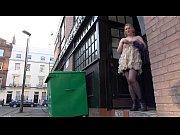 Sexy blonde Amber West in naughty voyeur advent...
