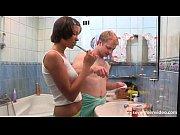 kimberly nutter in bathroom