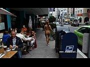 Nude in San Francisco: Hot black girl walks na...
