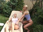 Gorgeous lesbian blondes pleasuring their hot p...