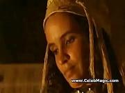 amina annabi shows her breasts
