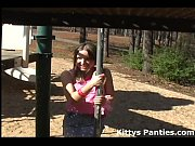 playground the over all panty her flashing Kitty