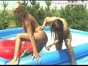 teen lesbians outdoor dildo