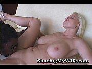 Русская жена унижает мужа перед ебарем