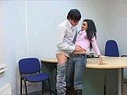 Молодая учительница с учеником ебется