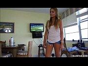 Naughty sex bomb home handjob