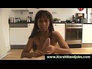 Ebony babe danielle hunt gives handjob