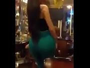 lebanese girl dancing in the coffe shop