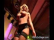 Big tits pornstar on stage toy
