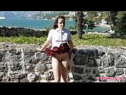Schoolgirl Windy Upskirt, Masturbation and Smoking