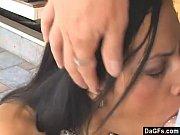Latino teen with braces sucking cock