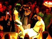 Brunette  Audience man Strip Show