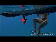 Julia swimming nude in the sea