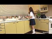 Sweet schoolgirl sucks cock