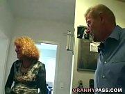 Horny granny fucks her ...
