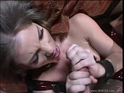 aurora is tied up and chained, tripple DP, chok...