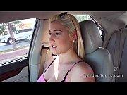 big titted blonde girl gets revenge sex in car