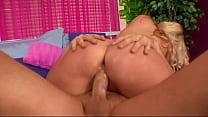 Horny slut enjoys gagging on a huge cock that w...