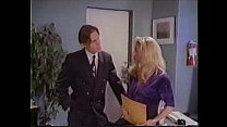blonde in black garters and stockings rough office sex