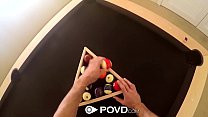 POVD Pool table masturbation and fuck with brunette Samantha Hayes porn videos