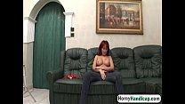Sexy redhead caregiver with big tits slammed by...