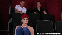 Brazzers - Dirty milf Rayveness masturbates in theater porn videos