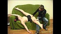 Flexible doll gets dildo hard