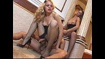 Kamila Smith wears stockings in hot shemale trio