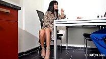 German Beauty Step-Mom Help Step-Son with Handjob porn videos