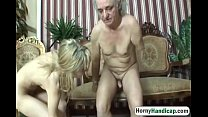 Horny old fart with body handicap fucks classy ...