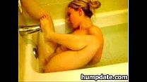 horny babe masturbating in the bath tub