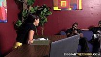 Ava Dalush Gets Two Black Cocks In A Restroom porn videos