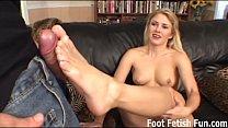 Sabrina wants to give you a perfect footjob