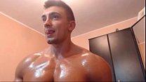 bulgarian bodybuilder oiled himself