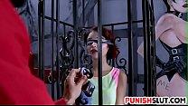 Caged slut Lola Fae gets punished for being a cock tease porn videos