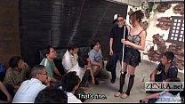Japanese AV star Anri Hoshizaki ENF CMNF party Subtitled porn videos