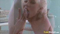 Fabulous Cindy Dollar masturbates with her tigh...