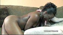 Ebony slut Anastasia is sucking cock
