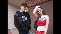 Cheerleader Scarlett Faye fucks for money porn videos
